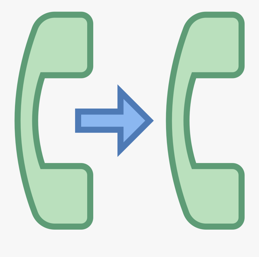 Warm Transfer Phone Icon, Transparent Clipart