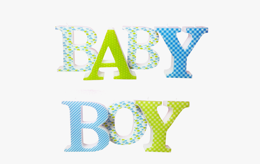 Baby Boy 3d Letters Candle Model - Baby Shower Letters Png, Transparent Clipart