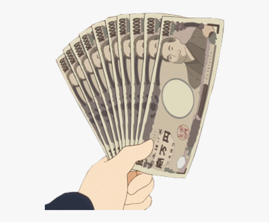 #money #anime #hand - Anime Hand Holding Money, Transparent Clipart