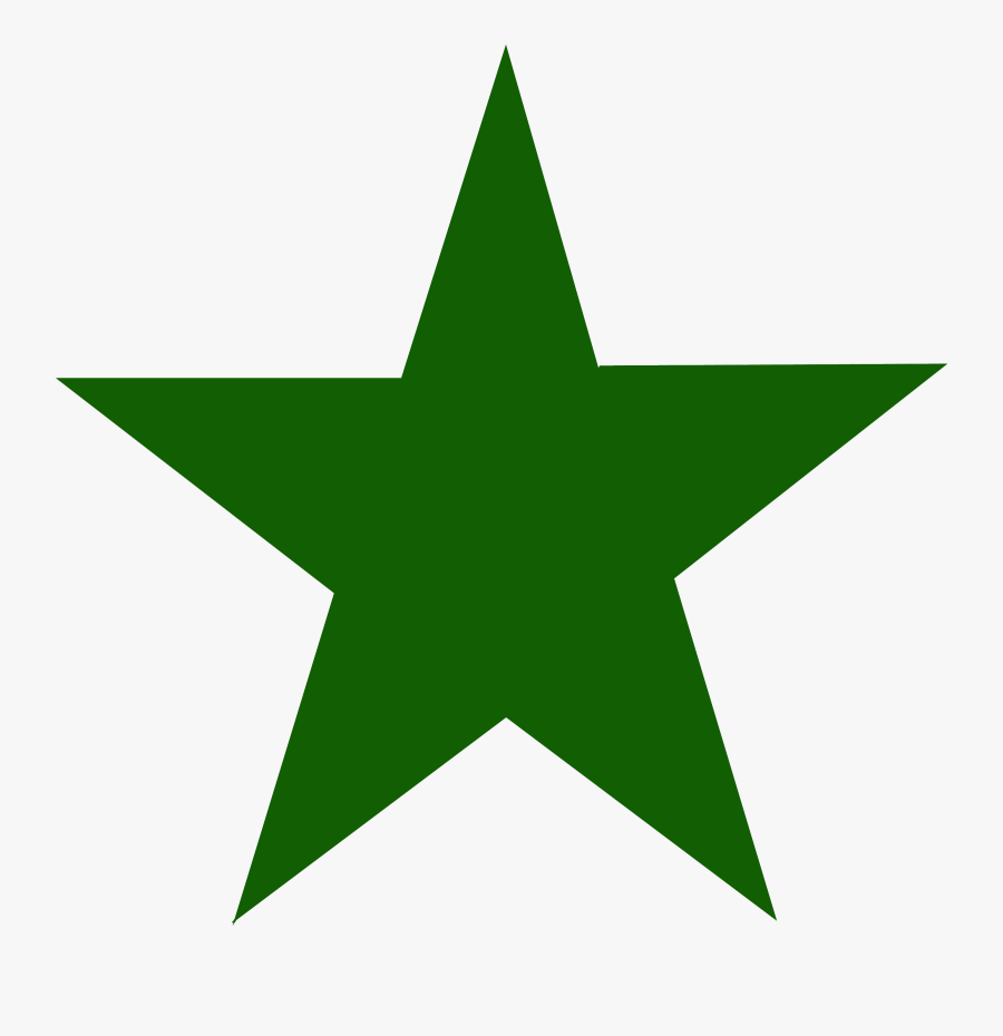 The Green Star - Green Star White Background, Transparent Clipart