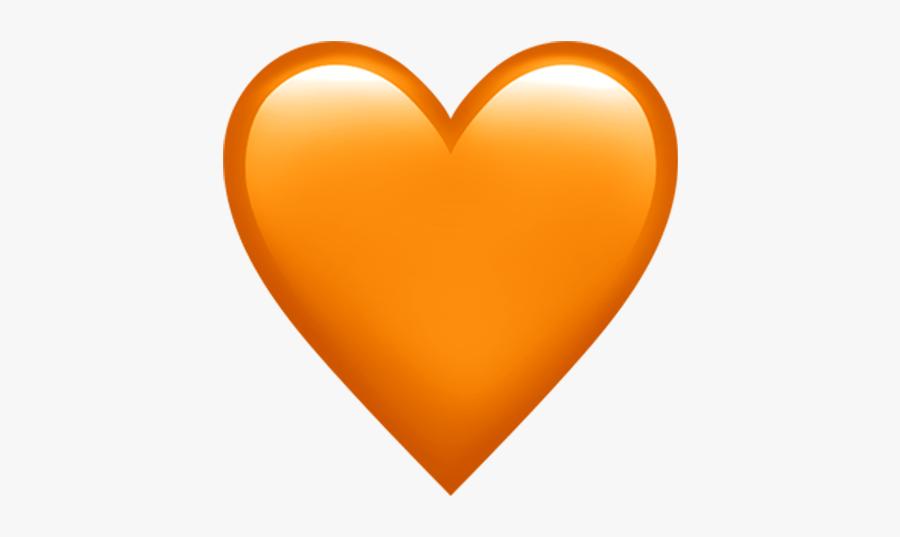 Heart World Emoji Day Apple - Orange Heart Emoji Transparent, Transparent Clipart
