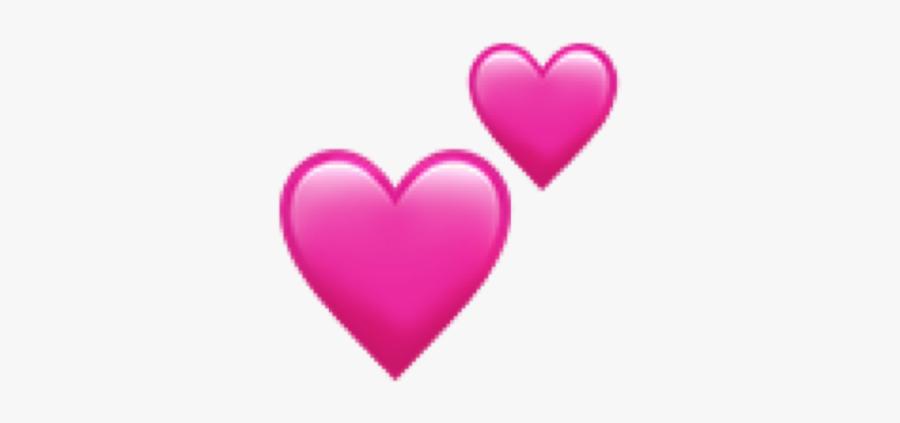 #heart #hearts #ios #apple #pink #rosa #herz #herzen - Two Hearts Emoji Png, Transparent Clipart