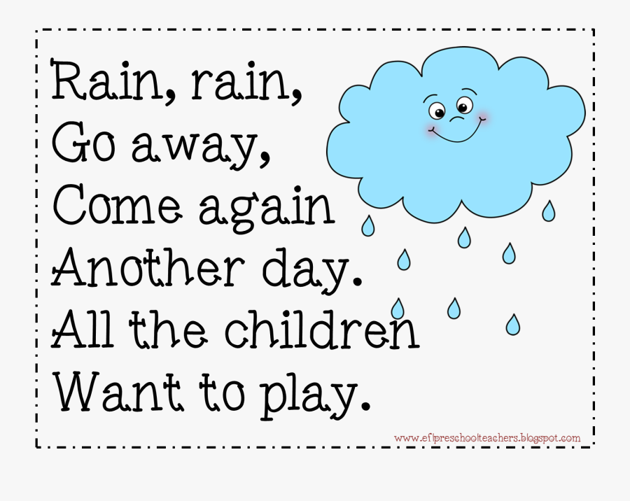 Free Rain Rain Go Away Printable , Transparent Cartoons - Do-re-mi, Transparent Clipart