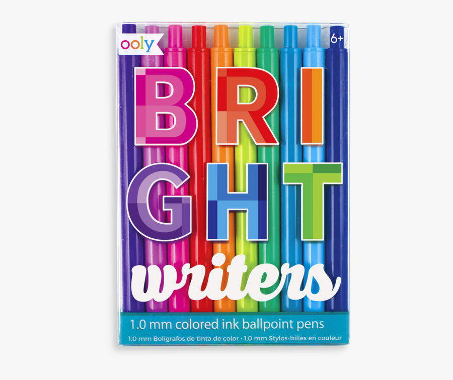 Clip Art Bright Writers Set Of - Different Colored Pens, Transparent Clipart