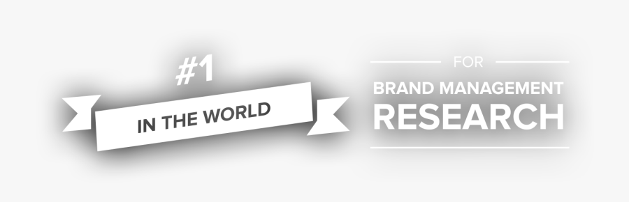 #1 In The World For Brand Management Research - Business Acumen, Transparent Clipart