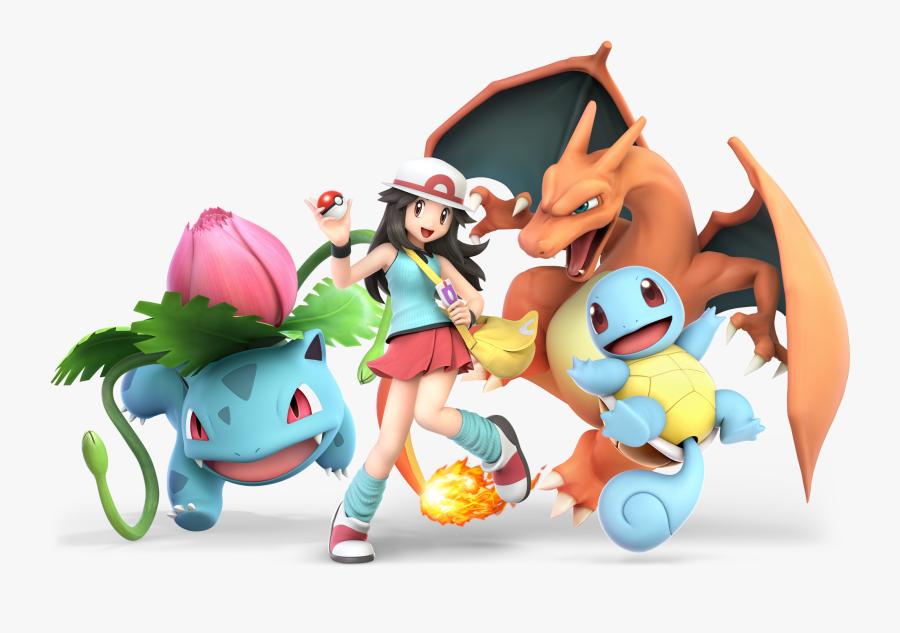 Super Smash Bros - Leaf Pokemon Trainer Smash Ultimate, Transparent Clipart