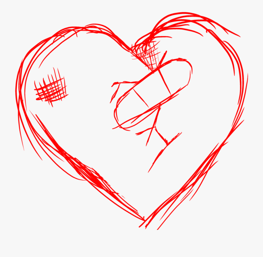 Clip Art Collection Free A Heart - Broken Hearted Pictures Drawn, Transparent Clipart