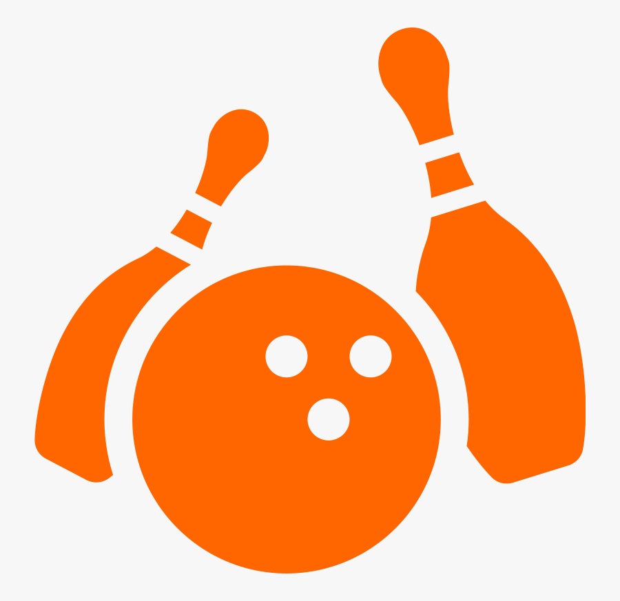 Orange Bowling Pins And Ball, Transparent Clipart
