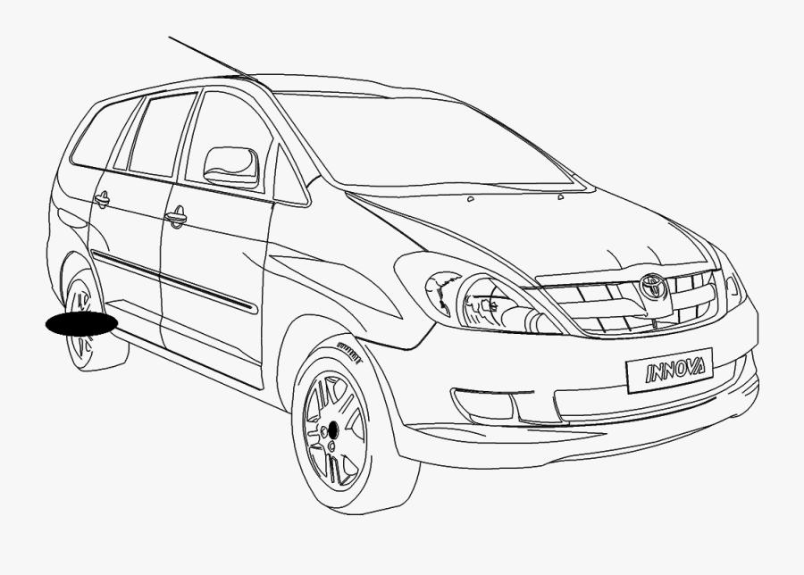 Transparent 2d Car Png - Drawing Of Innova Car, Transparent Clipart