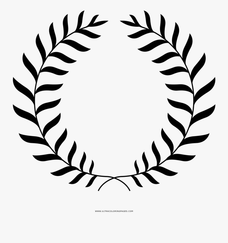 Laurel Wreath Coloring Page - Corona De Laurel Png, Transparent Clipart