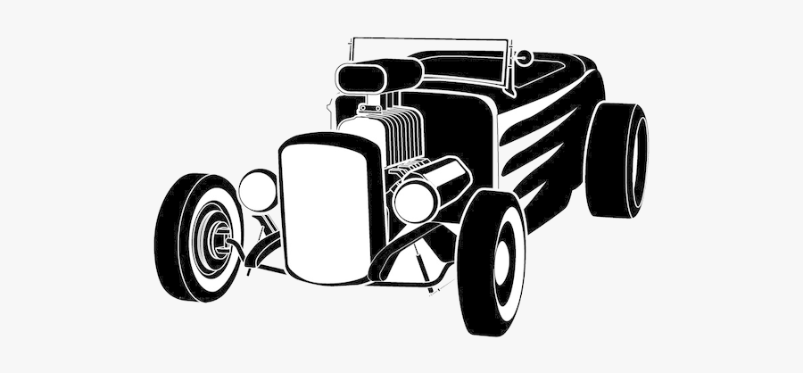 Hot Rod Free Clipart Of Rods Images At Vector Clip - Hot Rod Clip Art Black And White, Transparent Clipart
