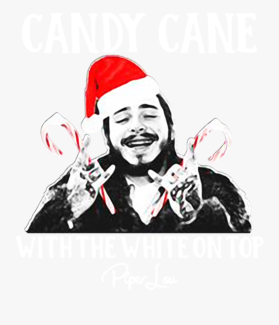 Post Malone Candy Cane With The White On Top Christmas Post Malone September 2018 Free Transparent Clipart Clipartkey
