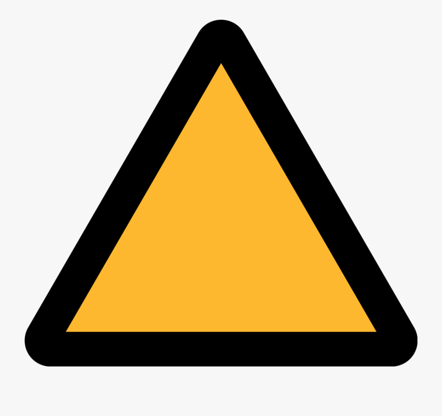 Triangle Warning Sign - Yellow Triangle Warning Sign, Transparent Clipart