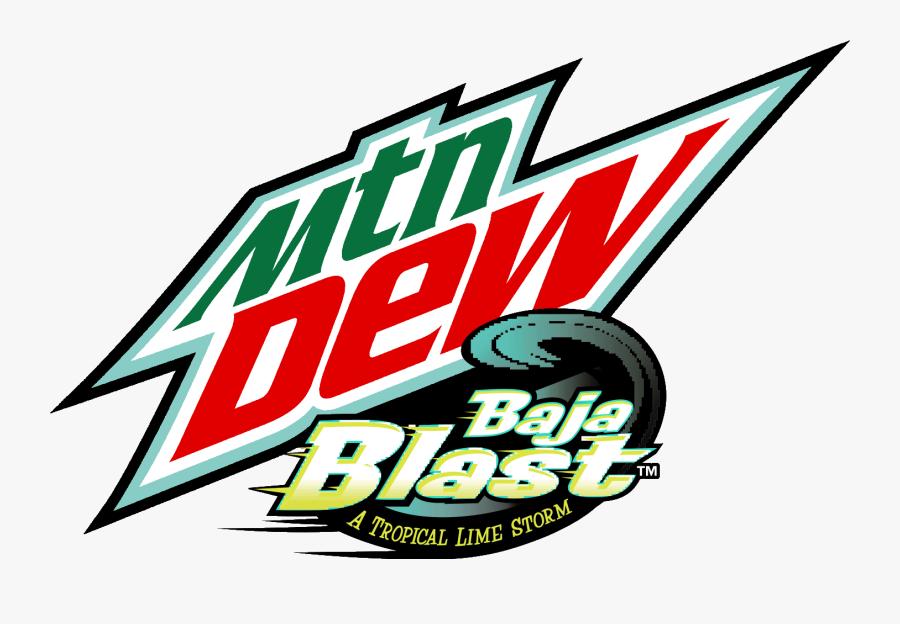 Transparent Mountain Dew Png - Mountain Dew Baja Blast Logo, Transparent Clipart