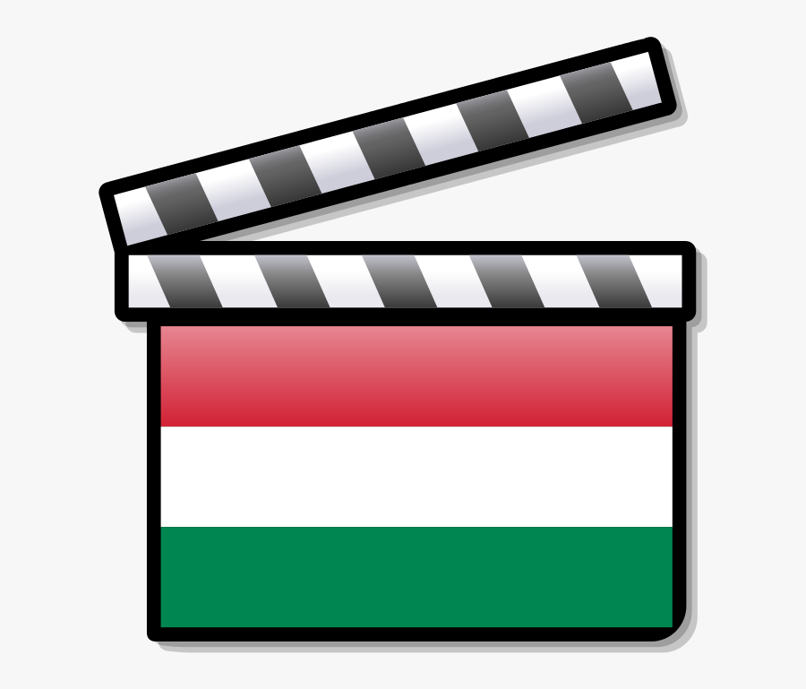 Hungary Film Clapperboard - Cinema In South Africa, Transparent Clipart
