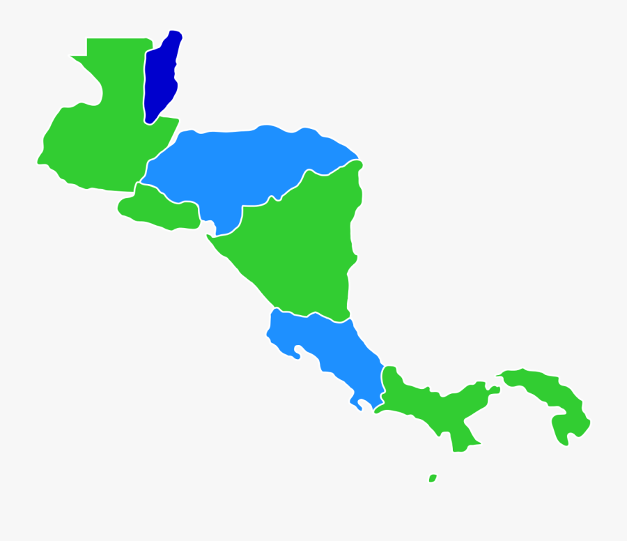 Central America Map Png - Central America Clear Map, Transparent Clipart