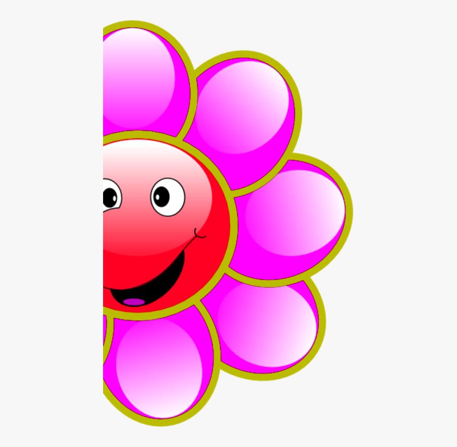 Smiling Flower Clipart - Smiling Flower Cartoon Png, Transparent Clipart