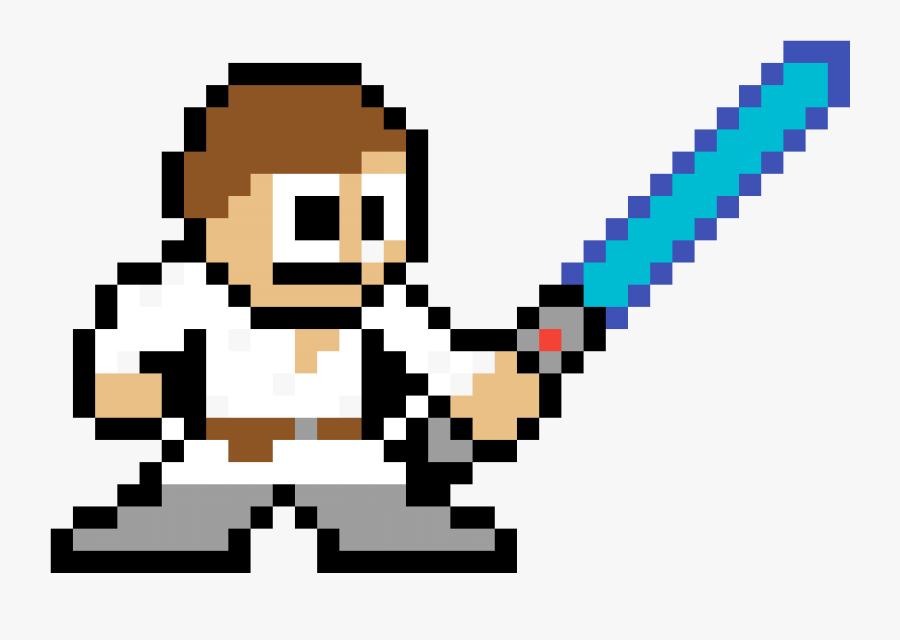 Luke Skywalker Clipart Mace Windu - Megaman 8 Bit Template, Transparent Clipart