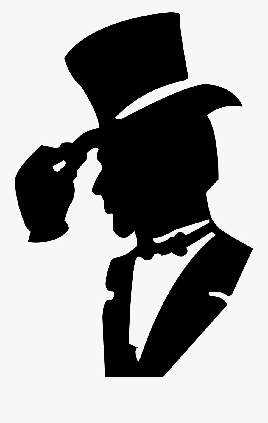 T-shirt Hat Suit Clothing - Black And White Gentleman Clipart, Transparent Clipart