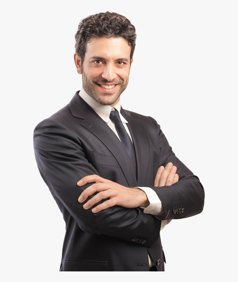 Transparent Arms Crossed - Man In Suit With Arms Folded, Transparent Clipart