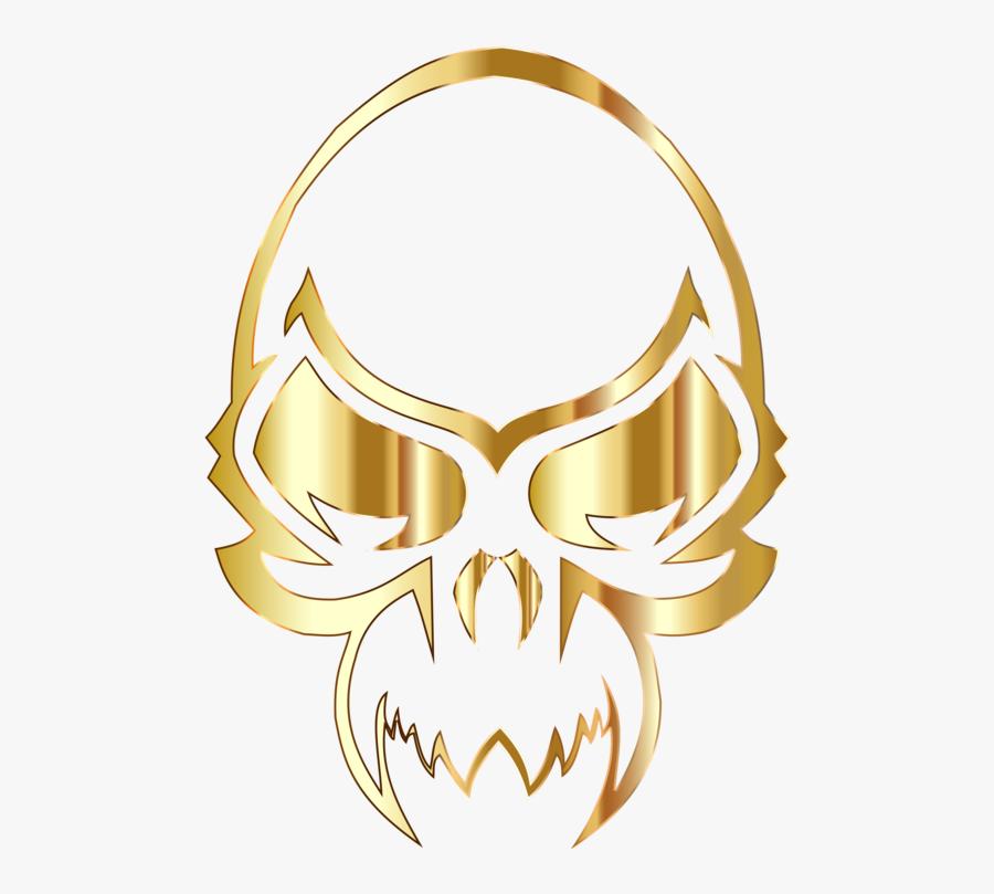 Body Jewelry,yellow,symbol - Golden Skull Transparent Logo, Transparent Clipart