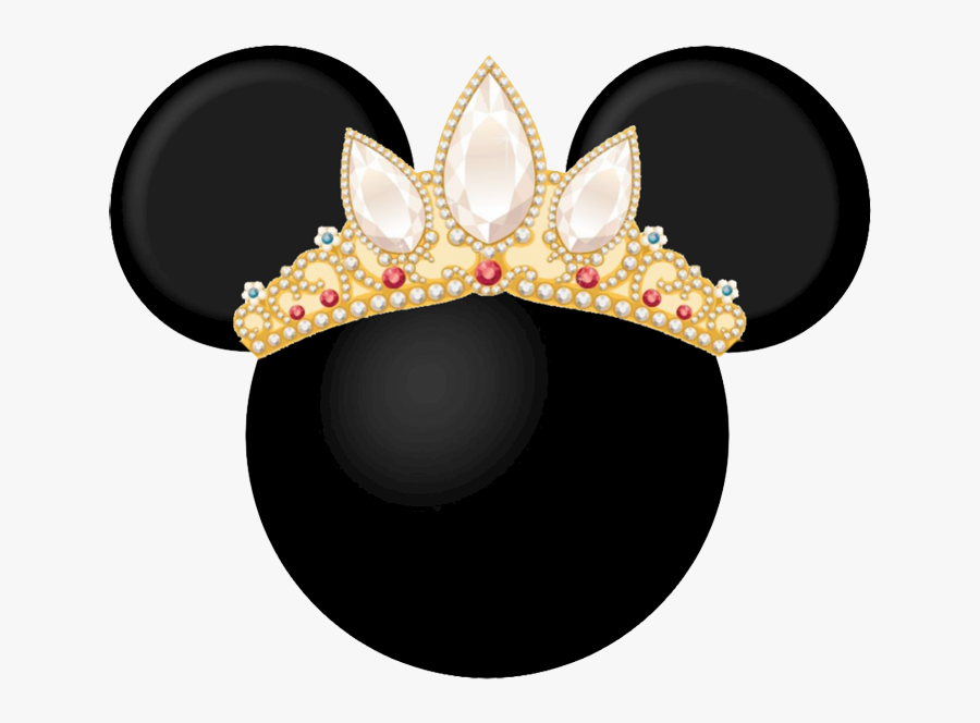 Minnie Mouse Mickey Mouse Rapunzel Disney Princess - Mickey Mouse Ears With Crown, Transparent Clipart