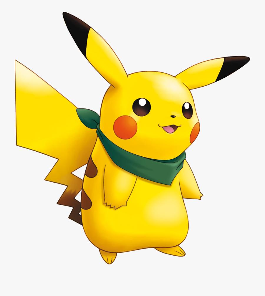 Pikachu Pokemon Mystery Dunge - Pokemon Mystery Dungeon Bandana, Transparent Clipart