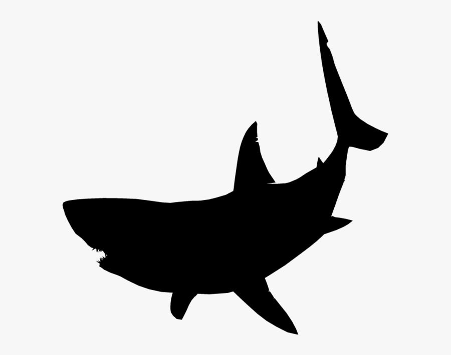 Great White Shark Silhouette Clip Art - Great White Shark Silhouette, Transparent Clipart
