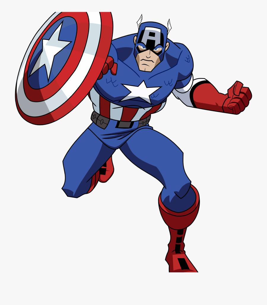 Captain America Iron Man Clint Barton Hulk - Captain America Avengers Cartoon, Transparent Clipart