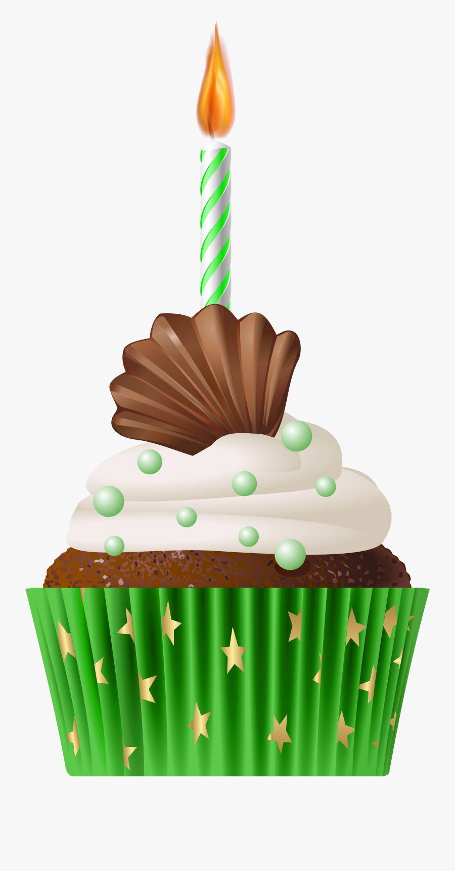Muffin Green With Png - Birthday Muffin Png, Transparent Clipart