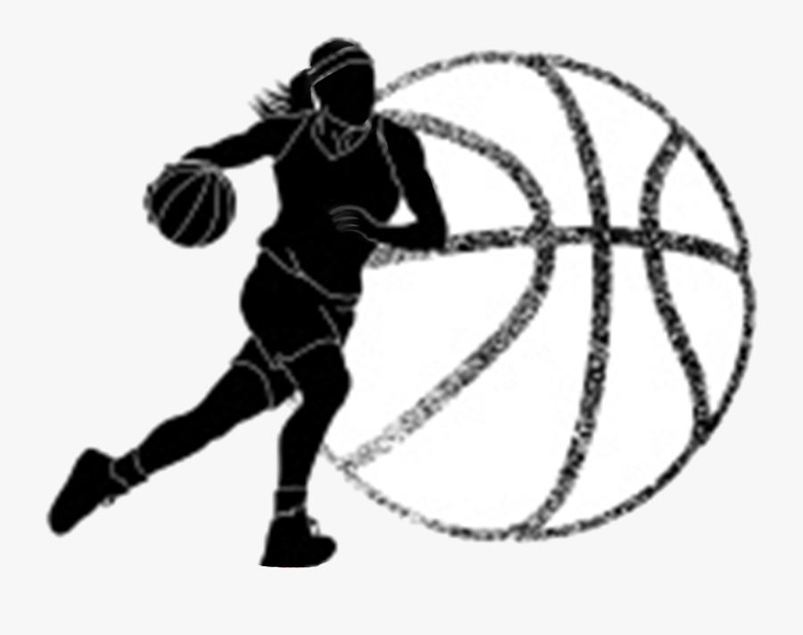 Basketball Girls Clipart Clip Art Images Transparent - Girls Basketball Black And White, Transparent Clipart