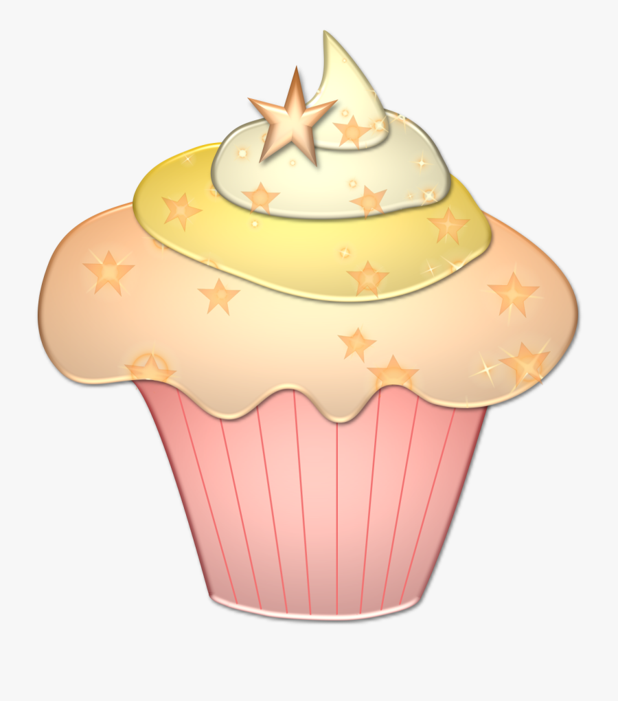 Cupcake Clipart House - Gold Cupcakes Clipart Png, Transparent Clipart