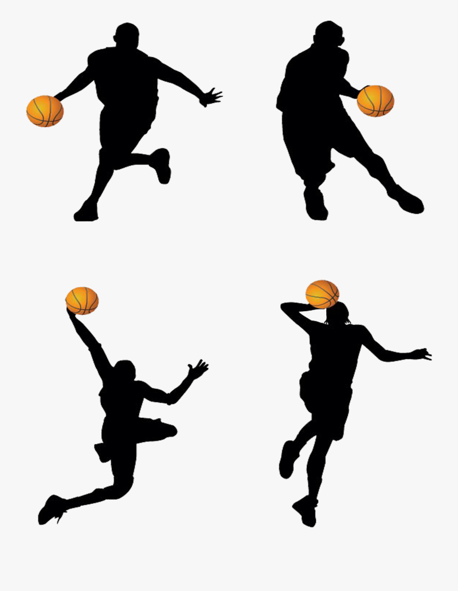Basketball Player Backboard Clip Art - Basketball Players, Transparent Clipart