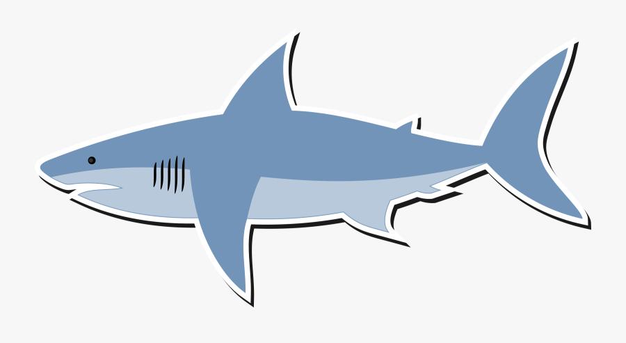 Clip Art Great White Shark Bull - Cartoon Clipart Shark, Transparent Clipart
