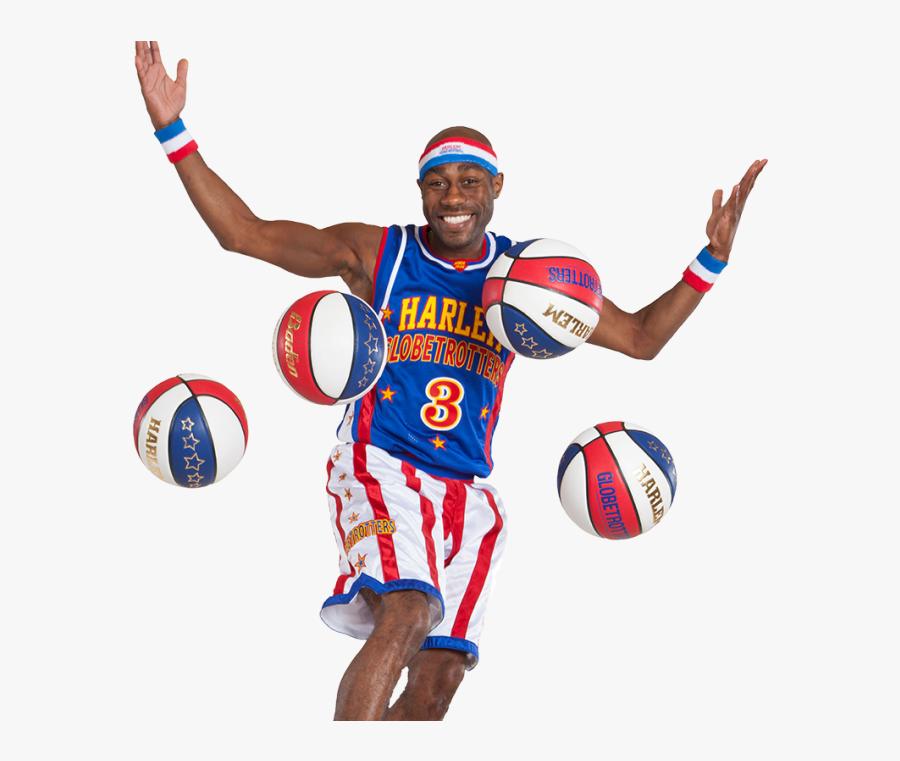 Harlem Globetrotters Cartoon Basketball Players Basketball - Cartoon Basketball Player Playing Basketball, Transparent Clipart