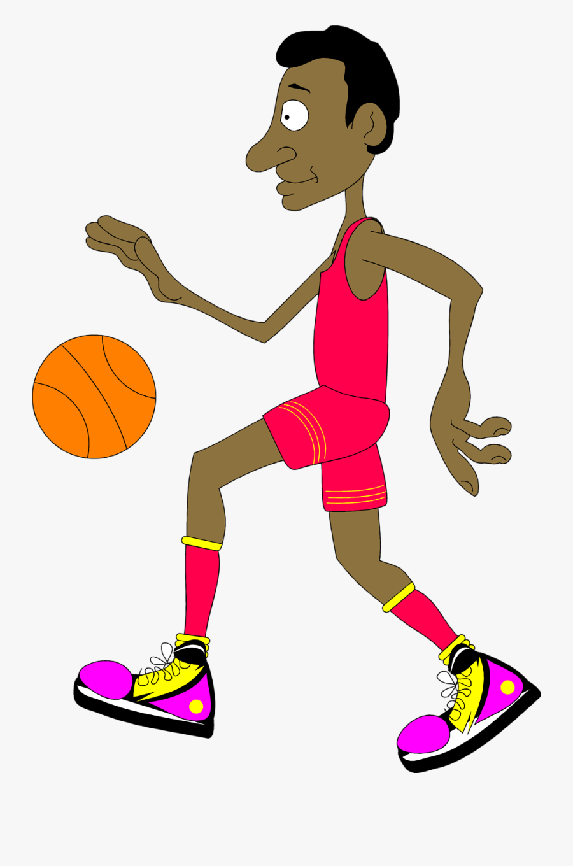 Free Basketball Clipart Backgrounds - Cartoon Basketball Player Transparent Background, Transparent Clipart