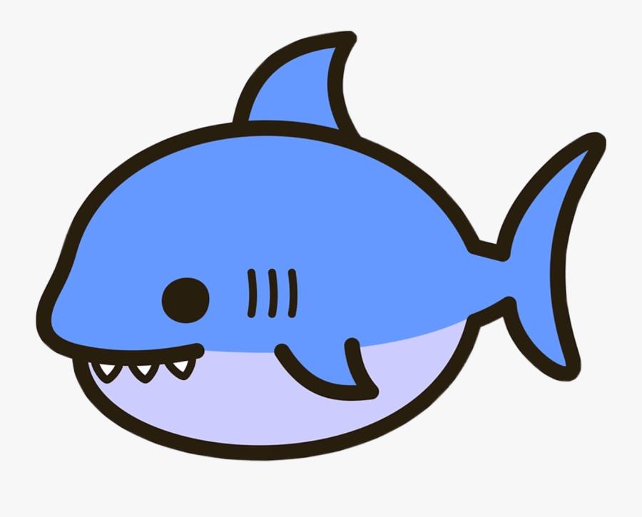 #shark #cute #kawaii #sea #animal #nature #water #gills - Cute Kawaii Shark, Transparent Clipart