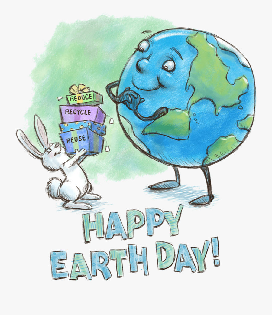 Transparent Happy Earth Day Clipart - Sketches Of Earth Day, Transparent Clipart