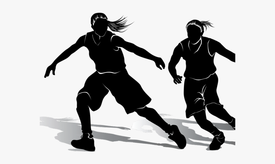 Girls Basketball Cliparts - Female Basketball Player Png, Transparent Clipart