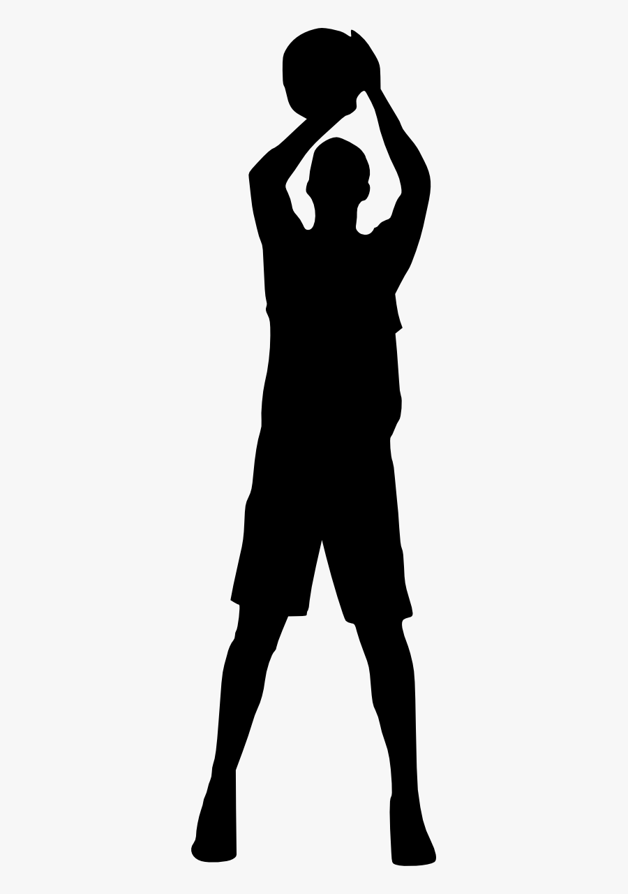Basketball Player Silhouette Png, Transparent Clipart