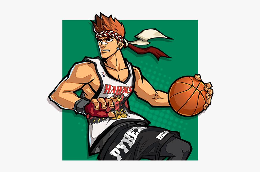 Free 3on3 Sports Moba Stock - Basketball Hero Apk Leslie, Transparent Clipart