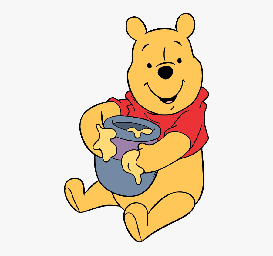Winnie The Pooh With Honey Pot, Transparent Clipart