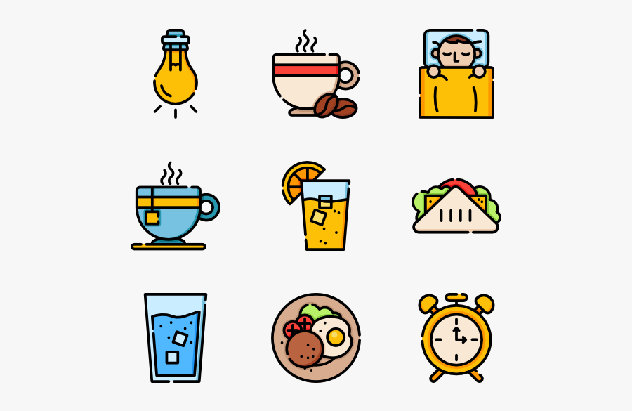 Eating Breakfast Clipart Psd Icons - Food Packaging Icon Png, Transparent Clipart