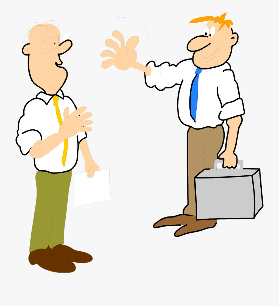 Image Stock Business People Talking Png - Two People Waving At Each Other, Transparent Clipart