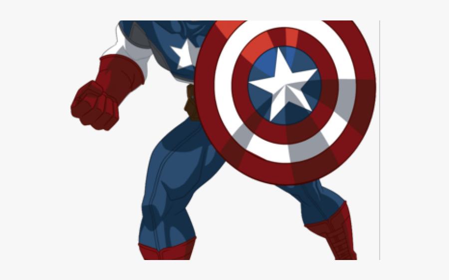 Free America Cliparts, Download Free Clip Art, Free - Captain America Avengers Cartoon, Transparent Clipart