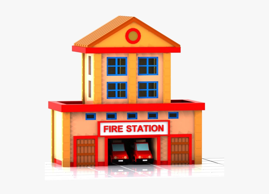 28 Collection Of Fire Station Clipart Png - Fire Station Clip Art, Transparent Clipart