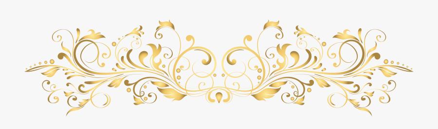 Deco Gold Transparent Clip - Gold Design Transparent Background, Transparent Clipart