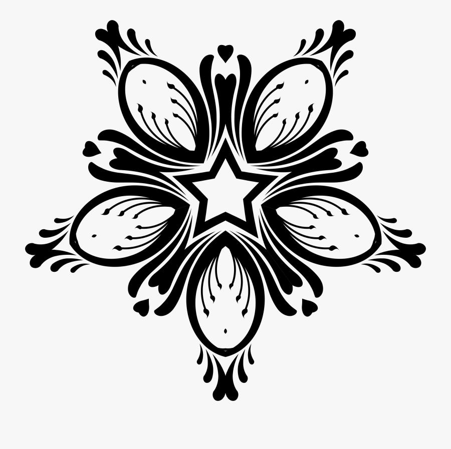 Symmetry,monochrome Photography,petal - Vector Design Line Art, Transparent Clipart