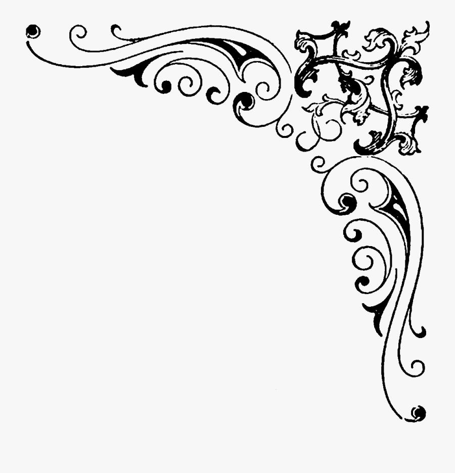 Swirl Clipart Corner - Transparent Border Designs Png, Transparent Clipart