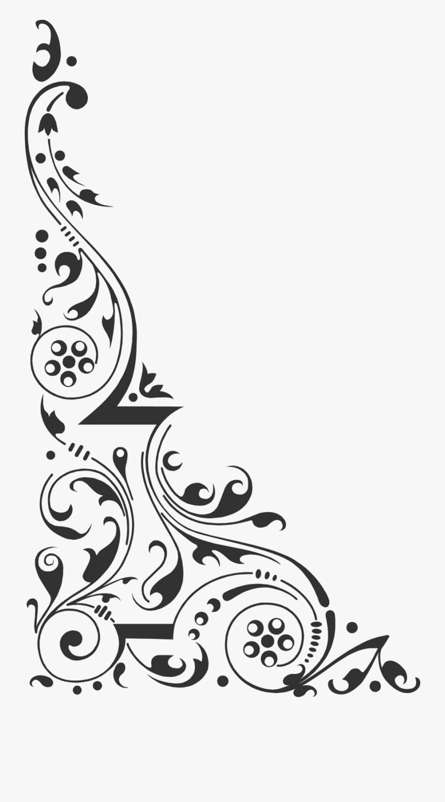 Corner Design Clipart Clip Art - Corner Design Png Black And White, Transparent Clipart